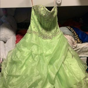 Frilly Green prom dress